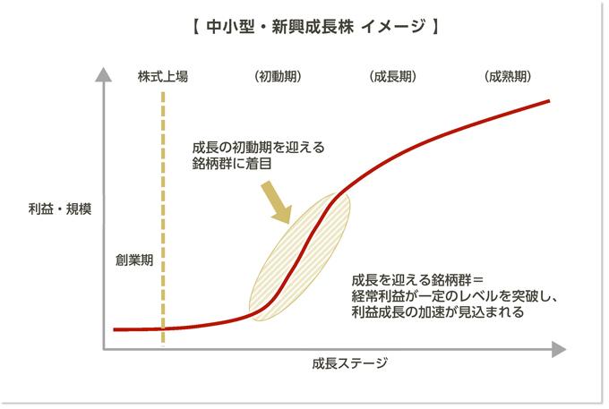 中小型・新興成長株 イメージ