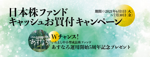 日本株ファンドキャッシュお買付キャンペーン