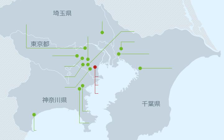 関東エリア地図