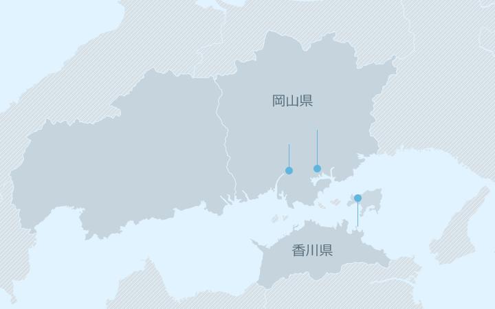 中国・四国エリア地図