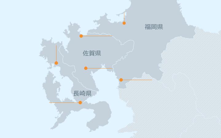 九州エリア地図